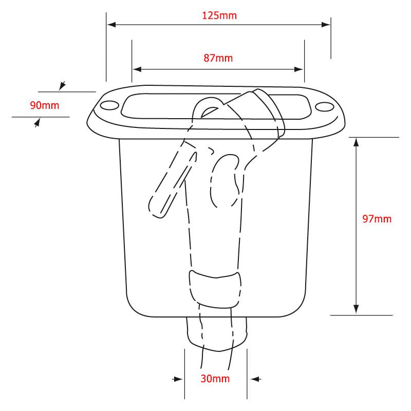 Квадратна кутия за душ система