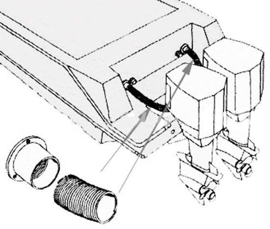 Монтажен маркуч за извънбордови двигатели