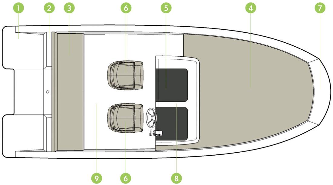 Моторна лодка Quicksilver Activ 605 Sundeck