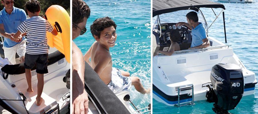 Моторна пластмасова лодка Quicksilver Activ 455 OPEN