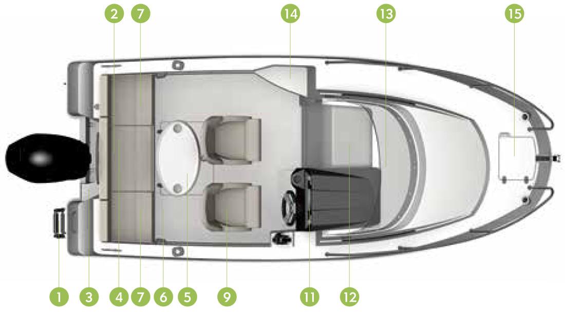 Моторна яхта Quicksilver Activ 505 Cabin